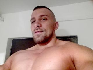 Picture of the sexy profile of Hercule, for a very hot webcam live show !