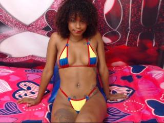 Sexet profilfoto af model BlackHotHornyX, til meget hot live show webcam!